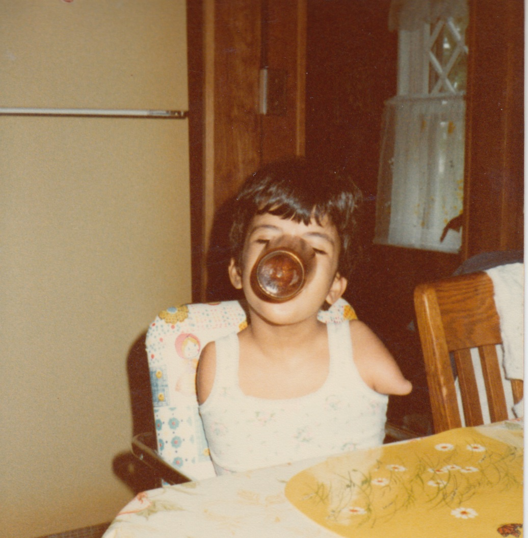 16 - lisa eating age 6