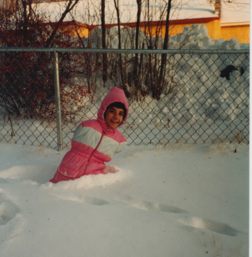 17 - lisa in snow age 6